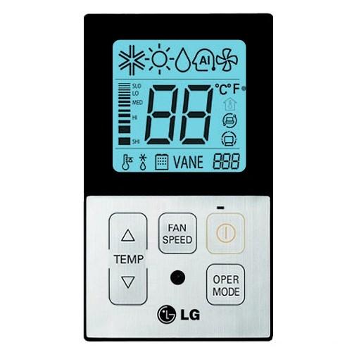 PQRCVCL0Q jednoduchý káblový ovládač klimatizácie LG čierny