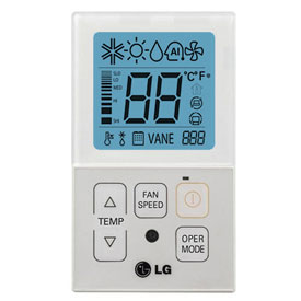 PQRCVCL0QW jednoduchý káblový ovládač klimatizácie LG biely