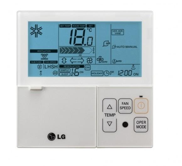 PREMTB001 káblový ovládač klimatizácie LG biely