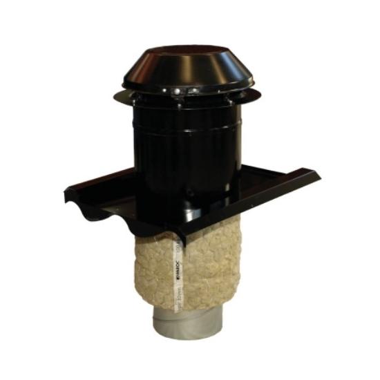 Systemair THB 160 čierna profilová krycia hlavica pre tvarované strechy