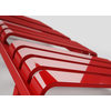 TERMA Warp T dizajnový radiátor 1110x500 RAL 3028 detail