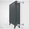 TERMA Plain retro radiátor farba Flat Black stojaci pohľad zboku