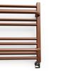 TERMA Lima kúpeľňový radiátor 500x1000 RAL8004 detail - rebrík