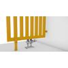 TERMA Angus DW dizajnový radiátor RAL1023 detail rozdeľovač miestnosti