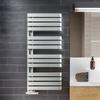 TERMA Warp S dizajnový radiátor 1110x500 RAL 9016 moderný interiér
