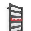 TERMA Vivo ONE kúpeľňový radiátor vešiak farba Metallic Grey - Happy Shark RAL3028
