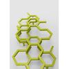 TERMA Hex dizajnový radiátor 1220x480 farba Green Apple detail