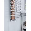 TERMA Michelle dizajnový radiátor 1200x500 Nickel Gloss a Cooper - detail