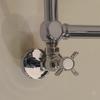 IRSAP Minuette chrómový kúpeľňový radiátor - dekoratívne detaily