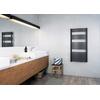 TERMA Dexter One kúpeľňový radiátor 1220x600 farba Metallic Black