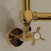 IRSAP Minuette chrómový kúpeľňový radiátor detail - zlato