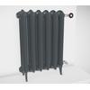 TERMA Plain retro radiátor farba Flat Black stojaci celok