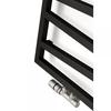 TERMA Zigzag kúpeľňový radiátor - farba Soft9005 detail
