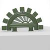 TERMA Triga AN dizajnový radiátor RAL 7003 polkruhový  tvar - detail