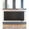 TERMA Delfin dizajnový radiátor pod okno horizontálny 540x1220 farba Metallic Black