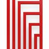 TERMA Angus V dizajnový radiátor farba RAL3020 detail