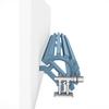 TERMA Triga ANC dizajnový radiátor RAL 5024 pohľad zhora detail - do rohu