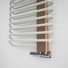 TERMA Michelle dizajnový radiátor 1200x500 RAL9010 a Cooper - detail