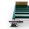TERMA Simple dizajnový radiátor 1200x500 RAL6026 Detail - polička Simple