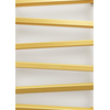 TERMA Zigzag kúpeľňový radiátor 835x500 farba Gold Gloss - detail - profily radiátora