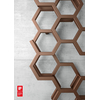 TERMA Hex dizajnový radiátor 1700x570 farba Copper - detail