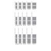TERMA Lima kúpeľňový radiátor Dostupné veľkosti2