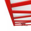 TERMA Vipera dizajnový radiátor 1230x500 farba Soft 3028 detail zboku