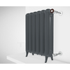 TERMA Plain retro radiátor farba Flat Black stojaci ovládanie