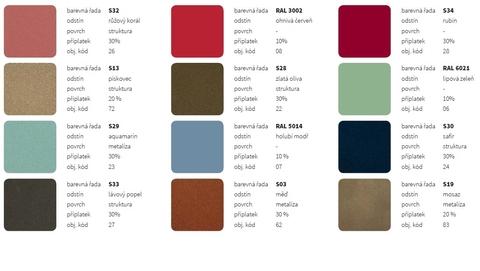 Farby ISAN - Orientačný vzorník farieb