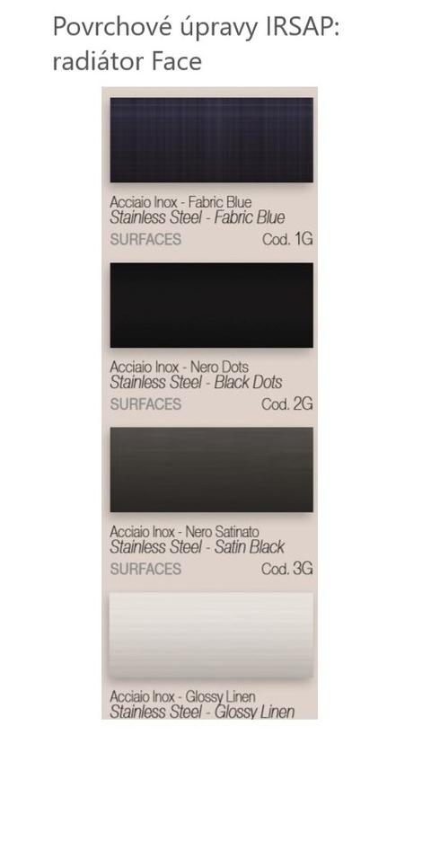 Farby Irsap - Povrchové úpravy - Face
