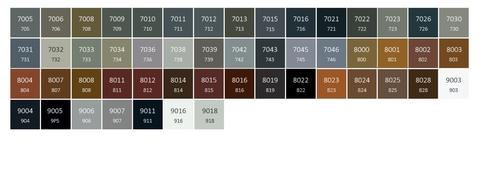Farby Terma - farebné prevedenia RAL - odtiene3