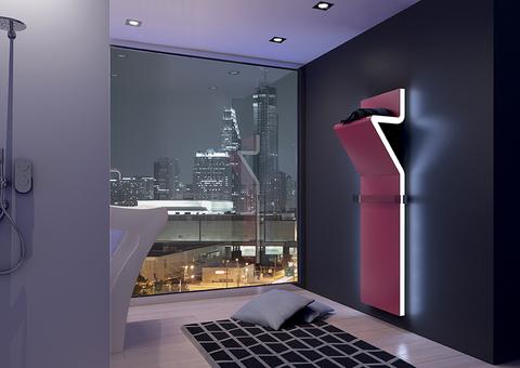 IRSAP Tratto dizajnový radiátor 1600x450 farba Flame Red