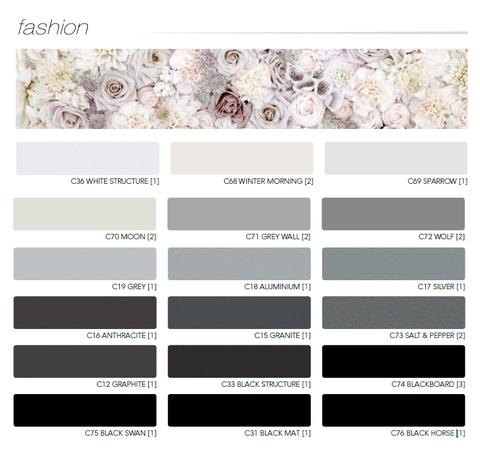 FASHION farebná paleta