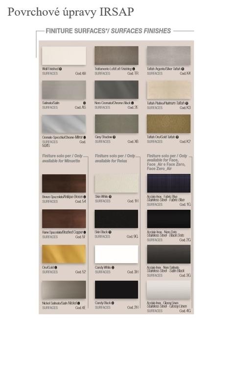 Farby Irsap - Povrchové úpravy - paleta