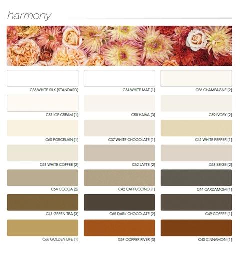 HARMONY farebná paleta