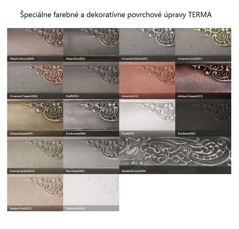 Farby Terma - liatinové radiátory - špeciálne farebné prevedenia- paleta