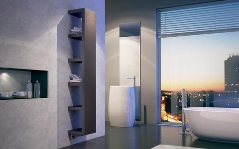 IRSAP Quadraqua dizajnový radiátor 1828x300 L farba Bruno Tobacco
