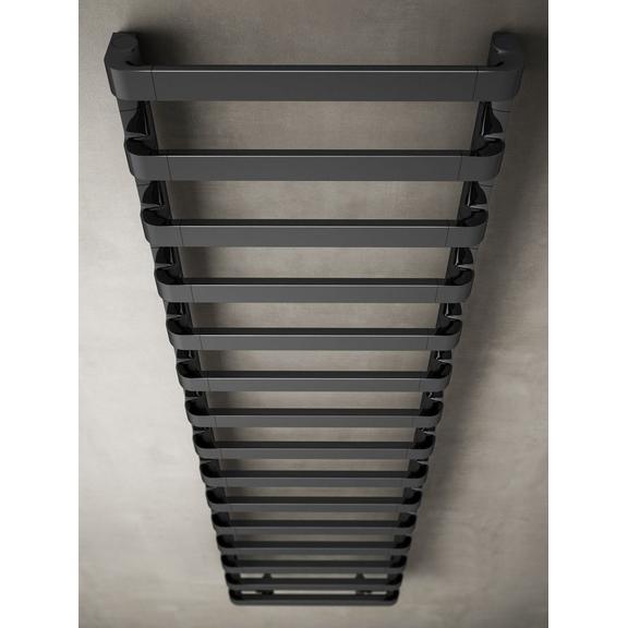 IRSAP Step B chrómový kúpeľňový radiátor  - black