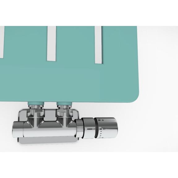 TERMA Aero V dizajnový radiátor - rôzne farebné prevedenia RAL6027 detail