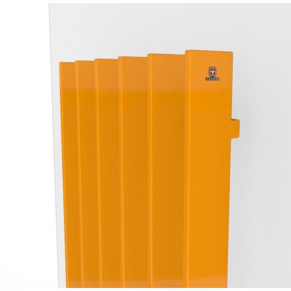 TERMA Cyklon V dizajnový radiátor -  farebné prevedenia RAL1028