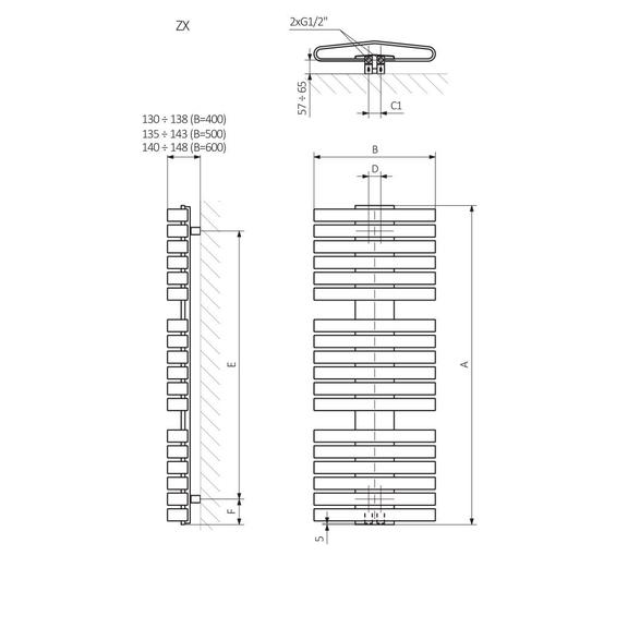 TERMA Iron D schéma - rozmery