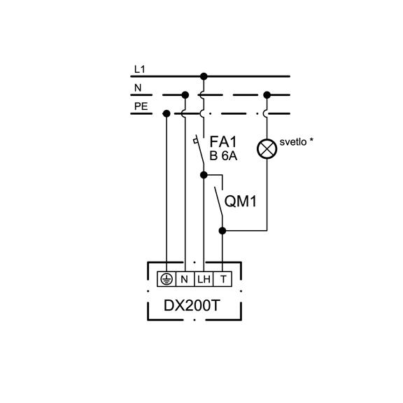 Ventilátor Xpelair DX 200 T Premier - schéma zapojenia