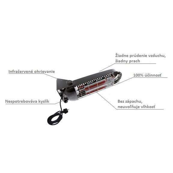 Master SOMBRA 8 elektrický infračervený ohrievač popis