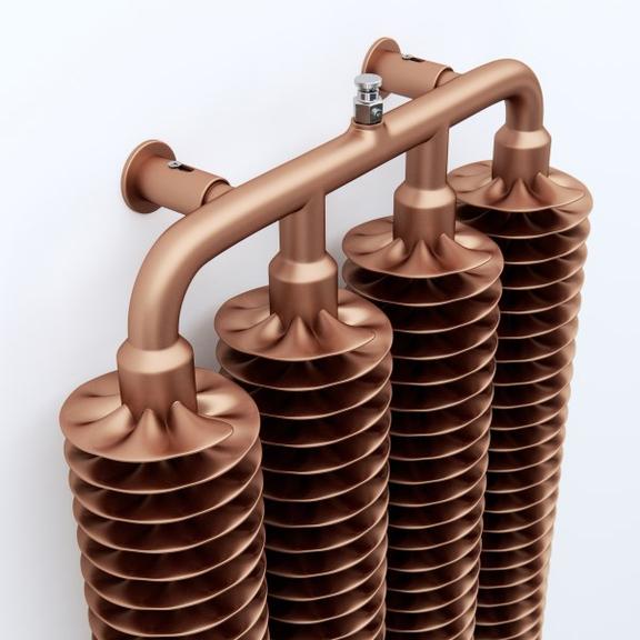 TERMA Ribbon V retro radiátor 1920x390 farba Copper- Meď špirály