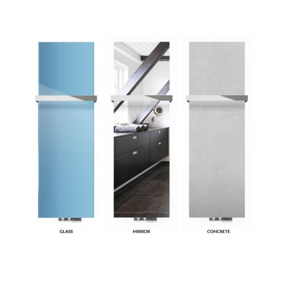 TERMA Case Slim dizajnový vertikálny radiátor - sklo/zrkadlo/betón