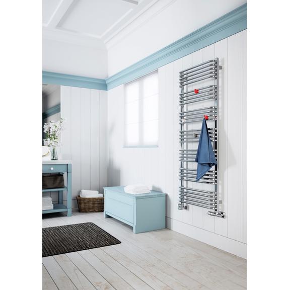 TERMA Alex elektrický kúpeľňový radiátor - háčiky Yo na zavesenie uterákov