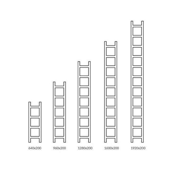 TERMA Easy vertikálny dizajnový radiátor -Veľkosti
