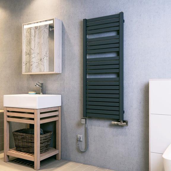 TERMA Mantis dizajnový radiátor v interiéri - detail