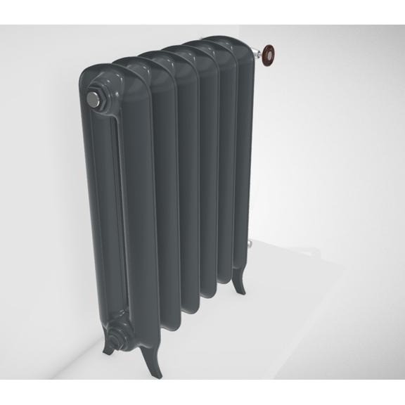 TERMA Plain  farba Flat Black stojaci rebrový retro radiátor