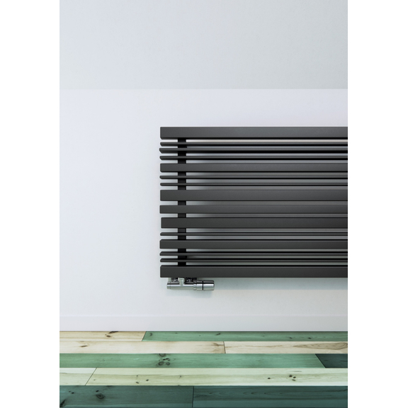 TERMA Sherwood H radiátor pod okno 540x1600 farba Metallic Grey pod okno